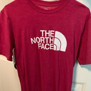 North face pink shirt